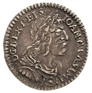 ort 1650, Wschowa, piękny portret króla, na rewersie śl...