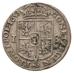 ort 1653, Wschowa, wieniec na głowie króla nie dzieli n...