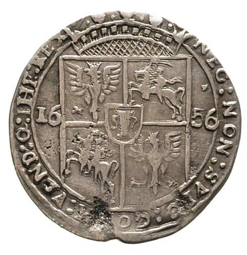 ort 1656, Lwów, odmiana z małą głową króla, T. 4, bardz...
