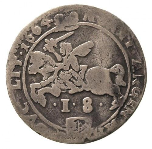 ort 1664, Wilno, odmiana z obwódkami, Ivanauskas 1194:2...