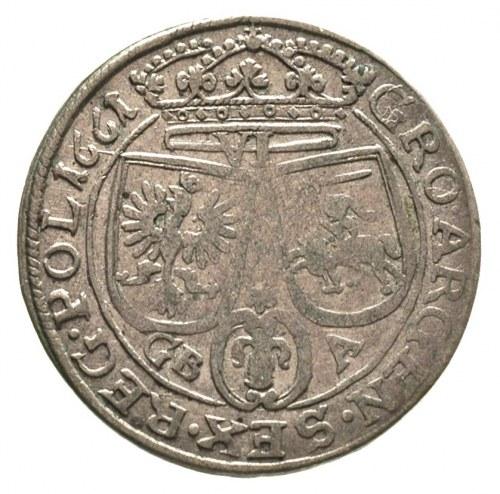 szóstak 1661, Lwów, bardzo rzadka odmiana bez herbu pod...