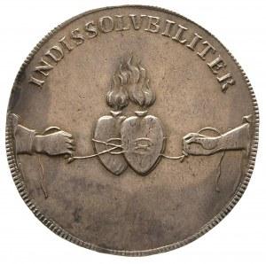 talar 1719, Drezno, Aw: Napisy, Rw: Dwa serca, 29.15 g,...