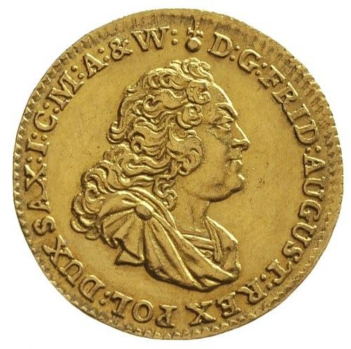 dukat 1750, Drezno, H-Cz. 4700, Fr. 2845, złoto 3.47 g,...