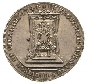 talar wikariacki 1741, Aw: Król na koniu, Rw: Tron, 26....
