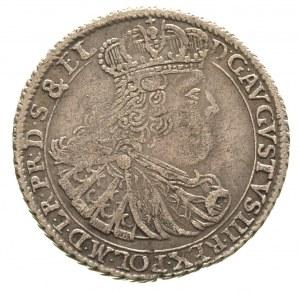 ort 1760, Gdańsk, odmiana z 18 w wieńcu, Merseb. 1798