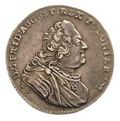1/6 talara 1746, Drezno, bardzo ładny egzemplarz, patyn...