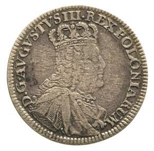 szóstak 1754, Lipsk, Merseb. 1785, wada blachy, patyna