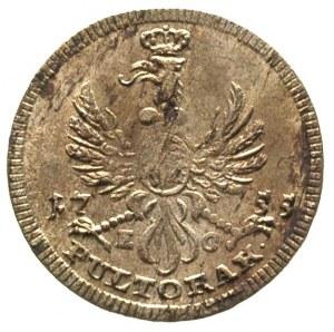 półtorak 1755, Lipsk, Merseb. 1789, minimalne rysy w tl...