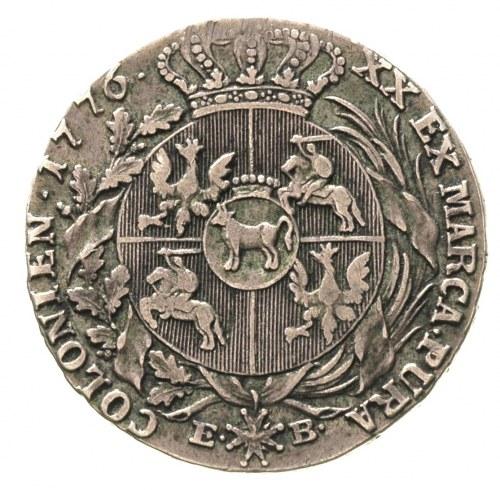 półtalar 1776, Warszawa, Plage 361, ciemna patyna z zie...
