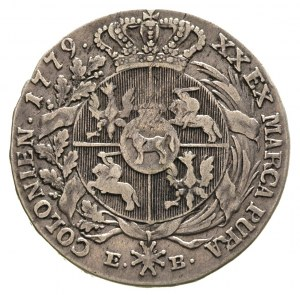 półtalar 1779, Warszawa, Plage 365, drobna wada blachy,...