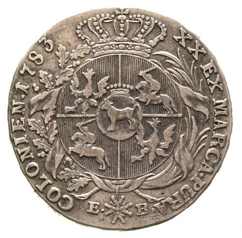 półtalar 1783, Warszawa, Plage 369, nieco rzadszy roczn...