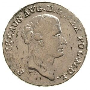 dwuzłotówka 1791, Warszawa, Plage 343, wada blachy, jus...