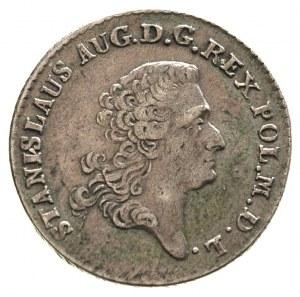 złotówka 1766, Warszawa, wieniec z drobnych listków, Pl...