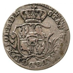 2 grosze srebrne (półzłotek) 1766, Warszawa, tarcza wąs...