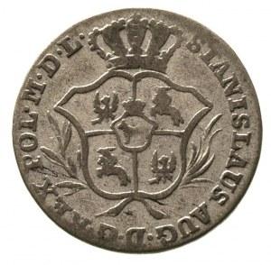 2 grosze srebrne (półzłotek) 1769, Warszawa, wieniec z ...