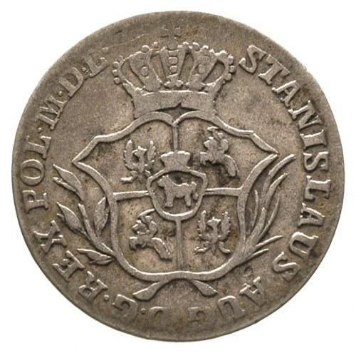 2 grosze srebrne (półzłotek) 1771, Warszawa, cyfry daty...