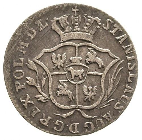 2 grosze srebrne (półzłotek) 1775, Warszawa, litery E B...
