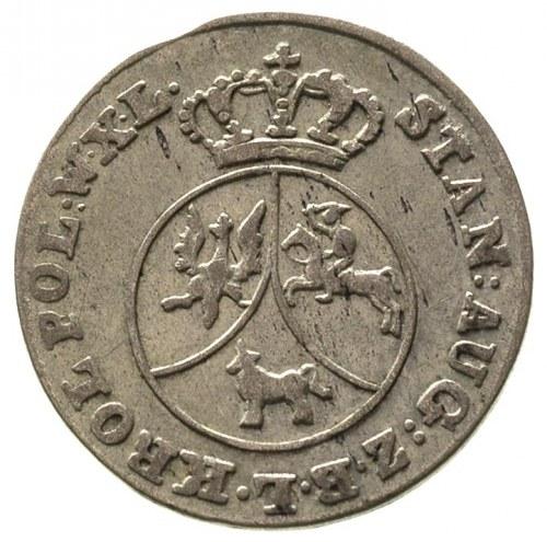 10 groszy miedzianych 1790, Warszawa, bez kropki po dac...