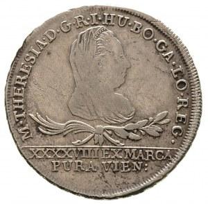30 krajcarów 1775, Wiedeń, Plage 8, drobna wada blachy,...
