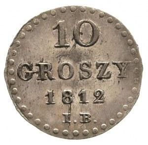 10 groszy 1812, Warszawa, Plage 102, ładnie zachowane, ...