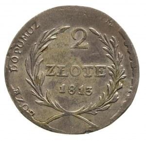 2 złote 1813, Zamość, Plage 125, ładne, patyna