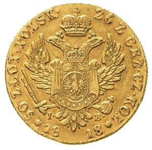 50 złotych 1818, Warszawa, złoto 9.79 g, Plage 2, Bitki...