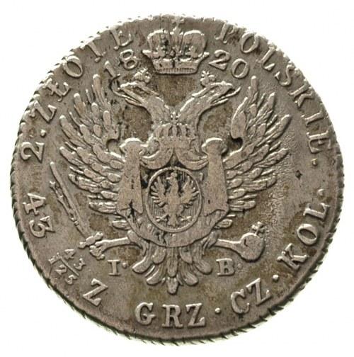 2 złote 1820, Warszawa, Plage 51, Bitkin 834 R, rysy w ...