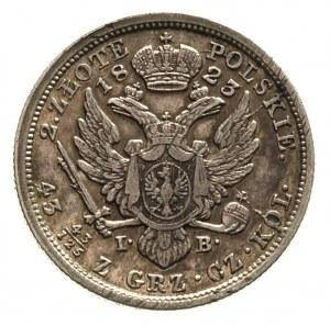 2 złote 1823, Warszawa, Plage 56, Bitkin 839, justowane...