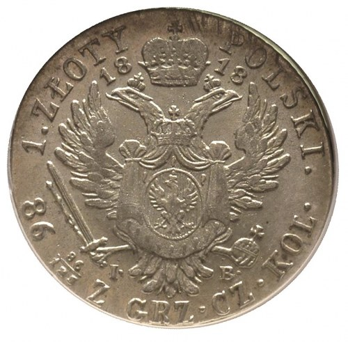1 złoty 1818, Warszawa, Plage 47, Bitkin 832, moneta w ...