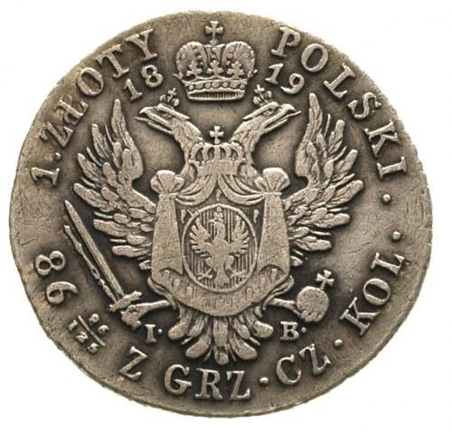 1 złoty 1819, Warszawa, Plage 64, Bitkin 843, drobne ry...