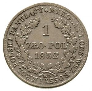 1 złoty 1832, Warszawa, Plage 76, Bitkin 1002, drobne r...