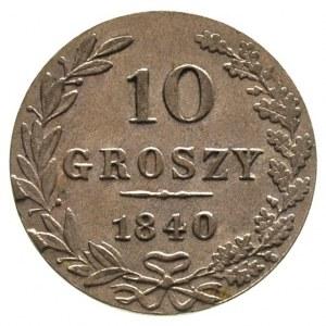 10 groszy 1840, Warszawa, Plage 106. Bitkin 1182, piękn...