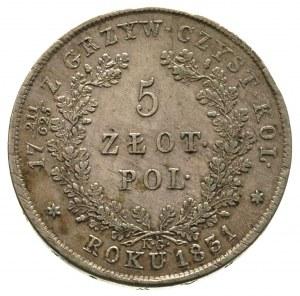 5 złotych 1831, Warszawa, Plage 272, minimalnie justowa...