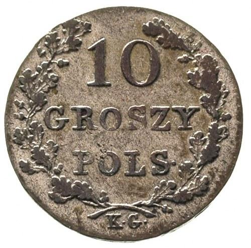 10 groszy 1831, Warszawa, Plage 277, patyna