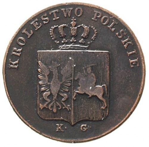 3 grosze 1831, Warszawa, bardzo rzadka odmiana, łapy or...