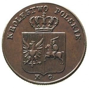 3 grosze 1831, Warszawa, łapy orła proste, Plage 282, p...