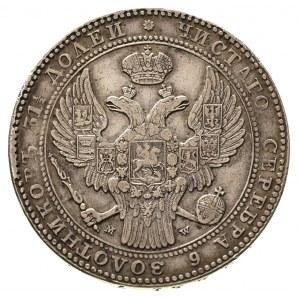 1 1/2 rubla = 10 złotych 1836, Warszawa, duże cyfry dat...