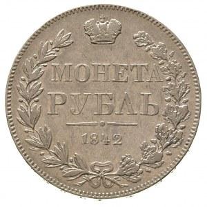 rubel 1842, Warszawa, z błędem w napisie ЗОЛОТНИКА, Pla...