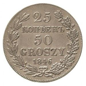 25 kopiejek = 50 groszy 1846, Warszawa, Plage 385, Bitk...