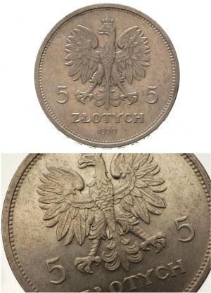 5 złotych 1930, Warszawa, Sztandar, moneta wybita głębo...