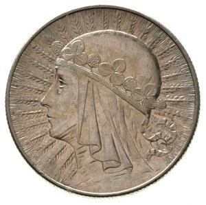 5 złotych 1932, Warszawa, Głowa Kobiety, \znak menniczy...