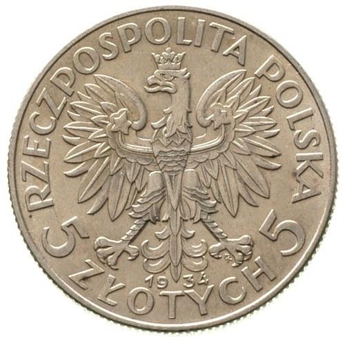 5 złotych 1934, Warszawa, Głowa Kobiety, Parchimowicz 1...