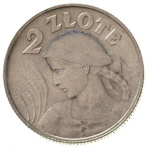 2 złote 1924/H, Birmingham, Parchimowicz 109 b, ładne i...