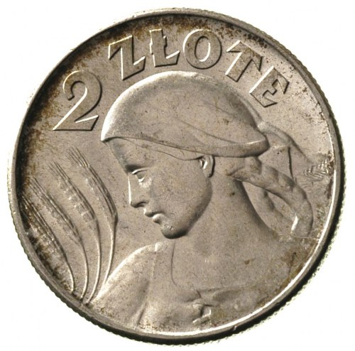 2 złote 1925, Londyn, kropka po dacie, Parchimowicz 109...