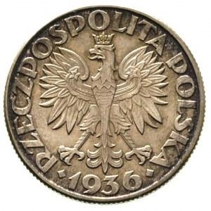 2 złote 1936, Warszawa, Żaglowiec, Parchimowicz 112, pa...
