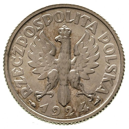 1 złoty 1924, Paryż, Parchimowicz 107 a, wyśmienity sta...