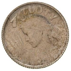 1 złoty 1924, Paryż, Parchimowicz 107 b, ładne, lekko p...
