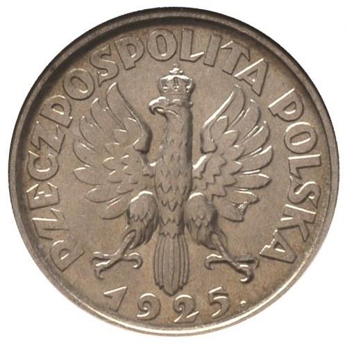 1 złoty 1925, Londyn, Parchimowicz 107 b, moneta w pude...