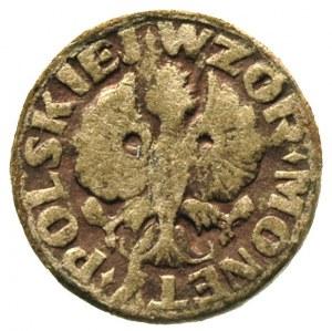 wzór monety dwugroszowej wykonany na tekturze, Aw: Orze...