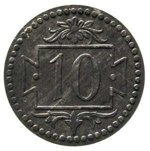 10 fenigów 1920, Gdańsk, na rewersie mała cyfra 10, odm...